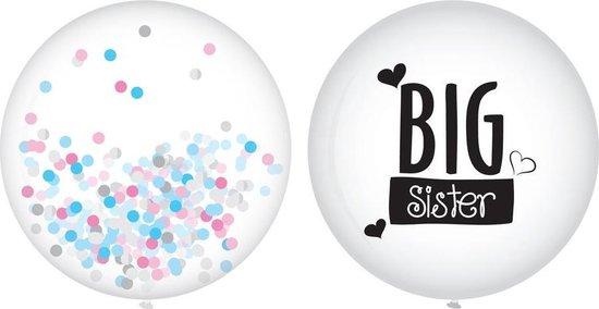 Geboorte Ballonnen Big Sister 40cm 2 stuks