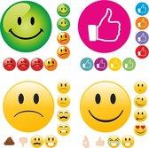 Grote Set (Belonings)stickers   216 grote STICKERS   4 vellen van TOP KWALITEIT   19 mm   Belonen met Stickers   School   Emoji   Like