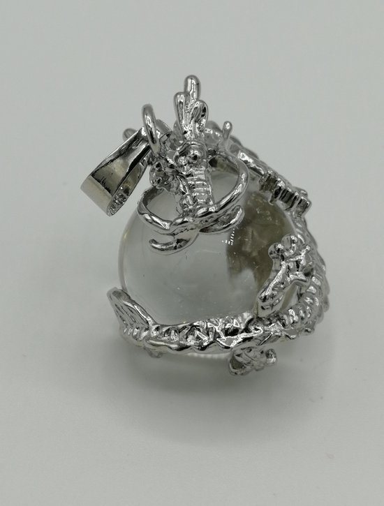 Bergkristal draken hanger - Lumeria