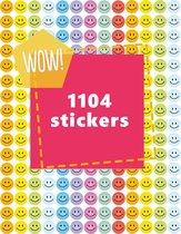 Pastel Smiley Stickers   1104 STICKERS   TOPKWALITEIT   Kleine Smileys   Planner Stickers   Beloningsstickers   Checkmark   Goed Gedaan Stickers   10 mm   Markeerstickers
