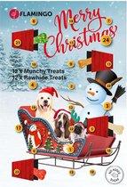 Flamingo Kerst Adventskalender voor Honden - Hondensnack