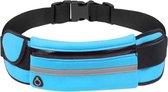 Hardloop heuptas-Blauw-telefoonhouder-Koptelefoon- Rennen - Opberg- Tas- Heup-Sport-Hardlopen-Sporti