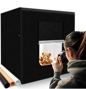 JGS Fotostudio Set - Draagbaar - Fotobox - LED verlichting  - 40x40x40 cm - Fototent - Opnametent - Mini Statief - 3 Achtergronden