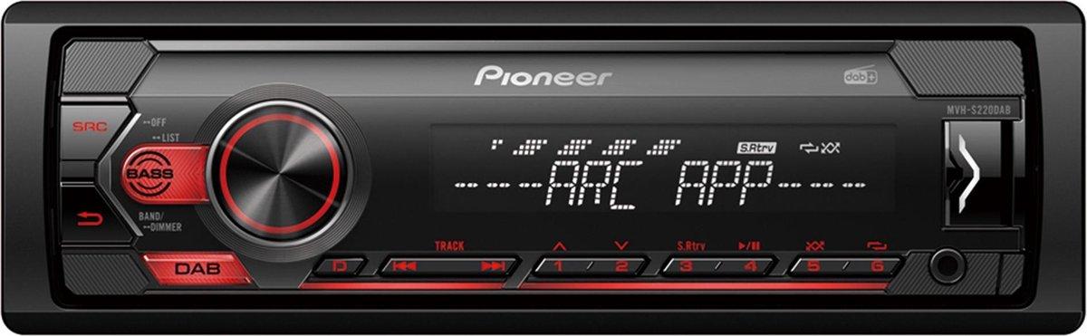 Pioneer MVH-S220DAB Autoradio Enkel din Digital Tuner-USB-DAB+ - 4 x 50 W