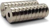 Brute Strength - Super sterke ring magneten - Rond - 15 x 4 mm met 4 mm gat -...
