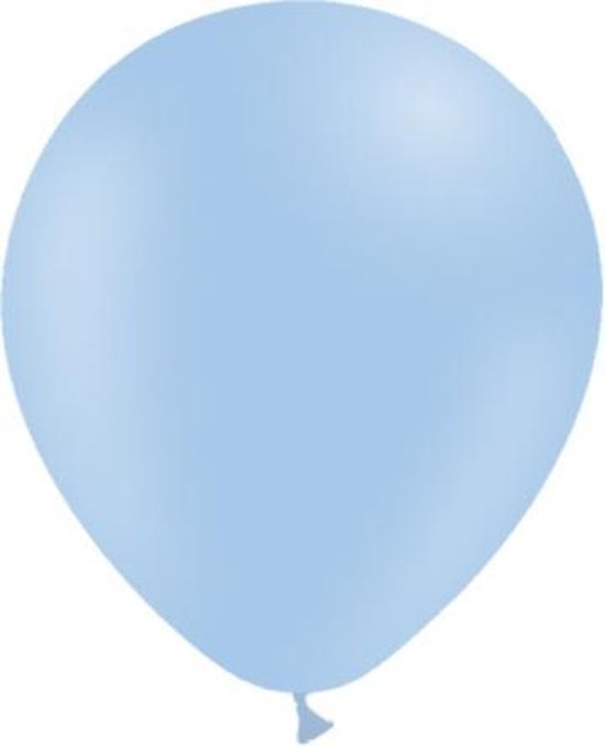 Lichtblauwe Ballonnen Pastel 30cm 50st