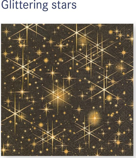 LUNCH SERVETTEN 33x33cm Glittering stars