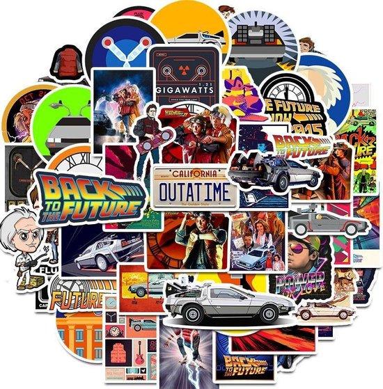 Back to the Future film sticker mix - 50 stickers voor laptop, agenda, muur, deur etc