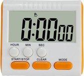Keuken timer 24 uur digitale wekker LCD-scherm magnetische backing voor koken bakken (oranje)