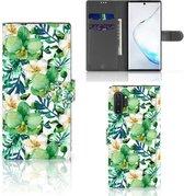 Samsung Galaxy Note 10 Plus Hoesje Orchidee Groen