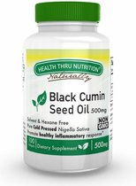 Black Seed Oil (Cold Pressed) 500 mg (non-GMO) (100 Softgels) - Health Thru Nutrition