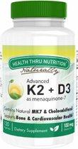 K2 (100 mcg as Menaquinone 7) + D3 (1000iu) (120 Vegicaps) - Health Thru Nutrition
