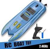 Rc boot 2.4ghz - 10 km/h - afstand bestuurbaar boot tot wel 50M bereik - oplaadbaar