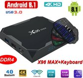 Combideal Android Kodi mediaplayer 4gb ddr plus draadloos usb keyboard