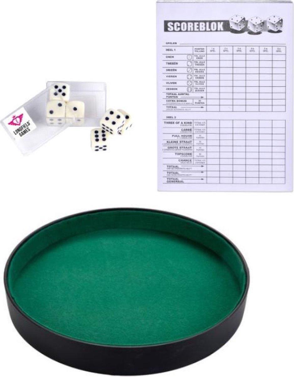 Dobbelbak   Pokerpiste   Scoreblok   6 Dobbelstenen