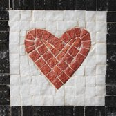 Mozaiek maken van natuurstenen  - Neptune Mosaic, mosaikit - Hart