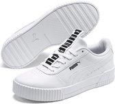PUMA Carina Bold Dames Sneakers - Puma White-Puma White - Maat 40