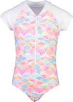 Snapper Rock - UV Badpak korte mouwen voor meisjes - Rainbow Connection - Multi