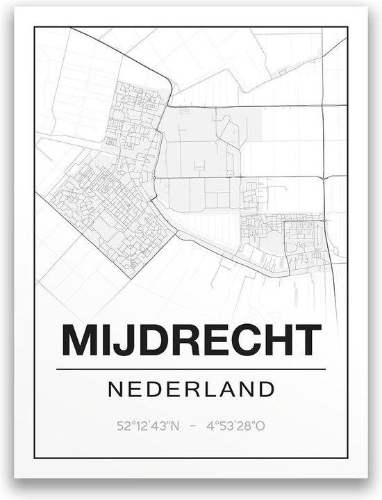 Poster/plattegrond MIJDRECHT - 30x40cm