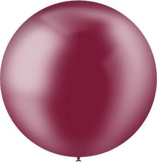 Bordeaux Rode Reuze Ballon Doorzichtig 60cm