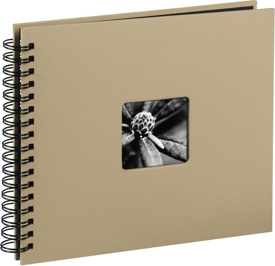 Hama  Fine Art  spiraal taupe 28x24 50 zwarte pagina's 113681
