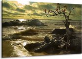 Canvas schilderij Natuur | Groen, Grijs | 140x90cm 1Luik