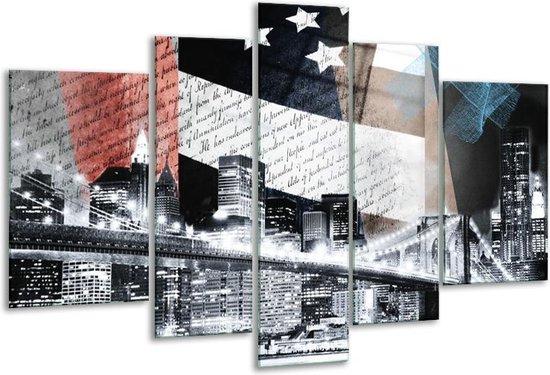 Glas schilderij Steden, Modern   Grijs, Zwart, Wit   170x100cm 5Luik   Foto print op Glas    F007357