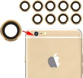 Let op type!! 10 Pairs for iPhone 6 & 6s Rear Camera Lens with Bezel(Gold)