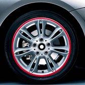 Kleur 17 inch wielnaaf reflecterende sticker voor luxe auto (rood)