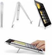 Universele uitklapbare Tablet en e-Reader Standaard, Uitklapbaar statief, aluminium, grijs , merk i12Cover