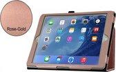 Apple iPad; Stand Smart Case voor uw Apple iPad 2017/2018 + iPad Air 1/2 + iPad Pro 9.7 Inch,Rose Gold/Goud luxe handgemaakt hoesje in business uitvoering, rose goud , merk i12Cover