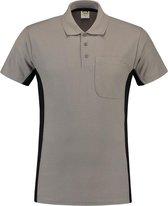 Tricorp Poloshirt Bi-Color - Workwear - 202002 - Grijs-Zwart - maat 5XL