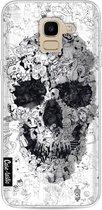 Samsung Galaxy J6 (2018) hoesje Doodle Skull BW Casetastic Smartphone Hoesje softcover case