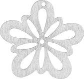 Bloem, wit, d: 27 mm, dikte 1,7 mm, 20stuks