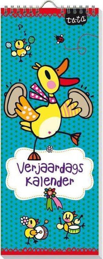 Verjaardagskalender Ta-Ta - Geen jaartal - Ophangbaar - Diverse Kleuren  - 13 x 33 x 0,6 cm