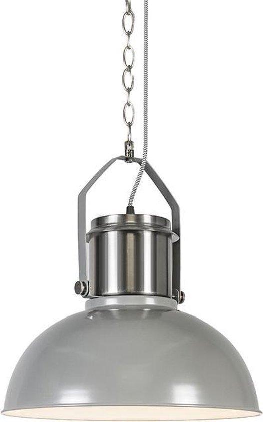 QAZQA Industrial 37 - Hanglamp - 1 lichts - mm - grijs
