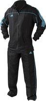 adidas Team Track Trainingsjack Zwart/Blauw maat XL