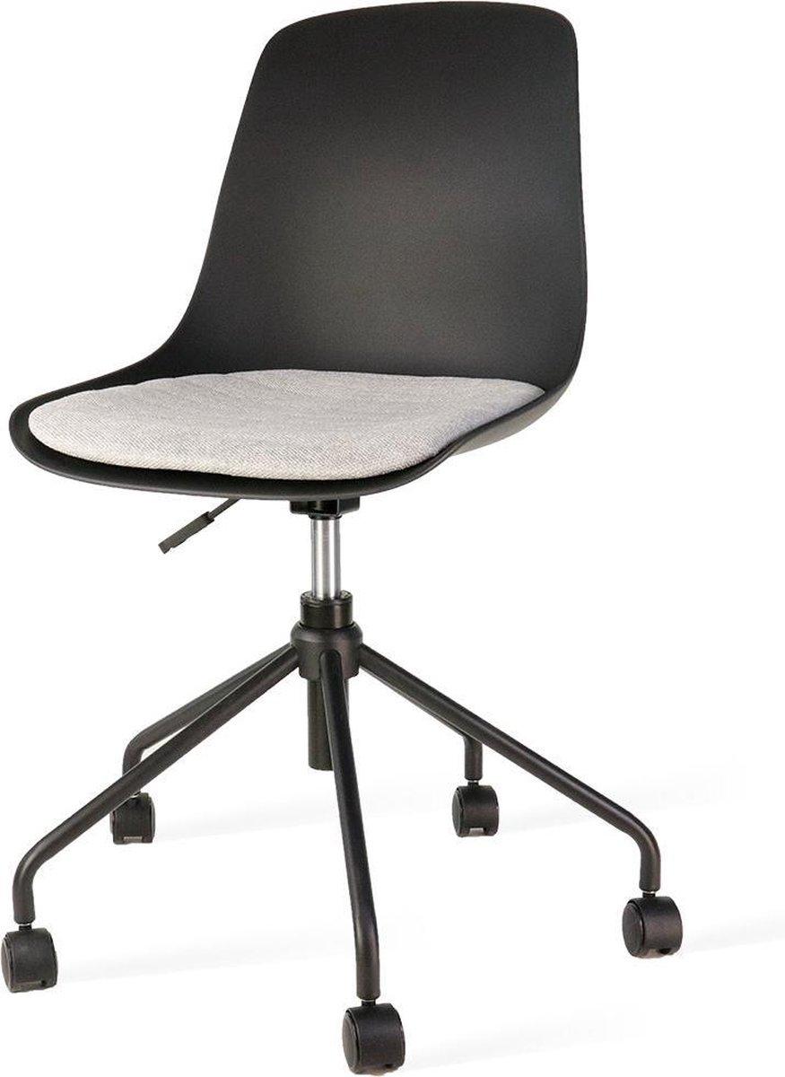 Nolon Nout bureaustoel zwart - Zwarte zitting en grijs zitkussen