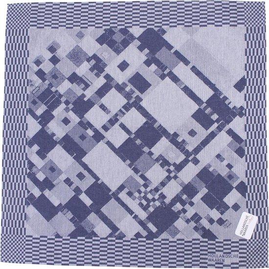 Theedoek Victorie een hommage aan Piet Mondriaan 65x65 cm 100% katoen