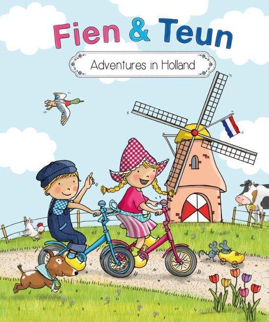Boek cover Fien en Teun  -   Adventures in Holland van Witte Leeuw (Hardcover)