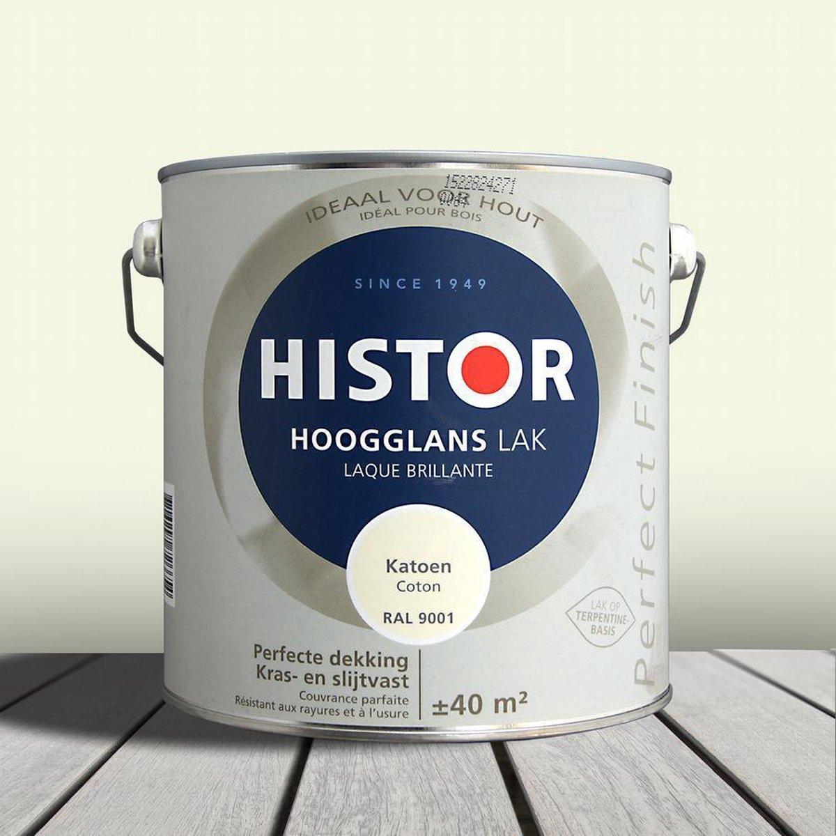 Histor Perfect Finish Lak Hoogglans 1,25 liter - Katoen (Ral 9001) - Histor