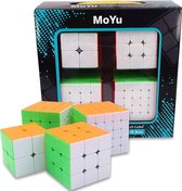Puzzelkubus – 2x2, 3x3, 4x4, 5x5 – MoYu Speed Cube – Gratis 4x Qubuss Cubestand