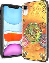 IYUPP iPhone XR Hoesje Bohemian Festival Geel x Oranje