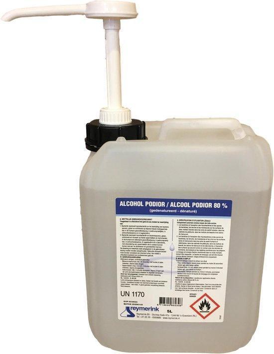 Desinfecterende Alcohol 80% - 5 Liter - Professioneel - Incl. Pomp