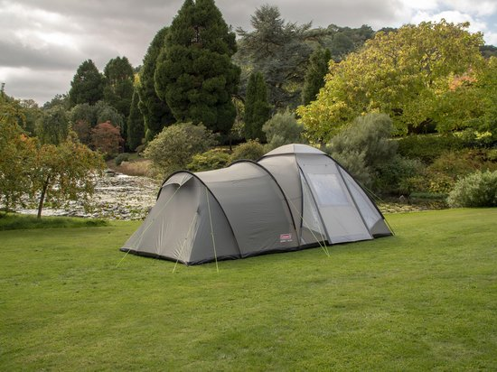 Coleman Waterfall 5 Deluxe Tunneltent Familietent 5 Persoons Groen