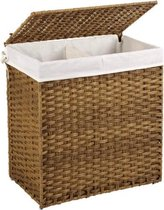MIRA Home Wasmand – Scheidingsmand – Modern – Rotan – Bruin – 33x57x60