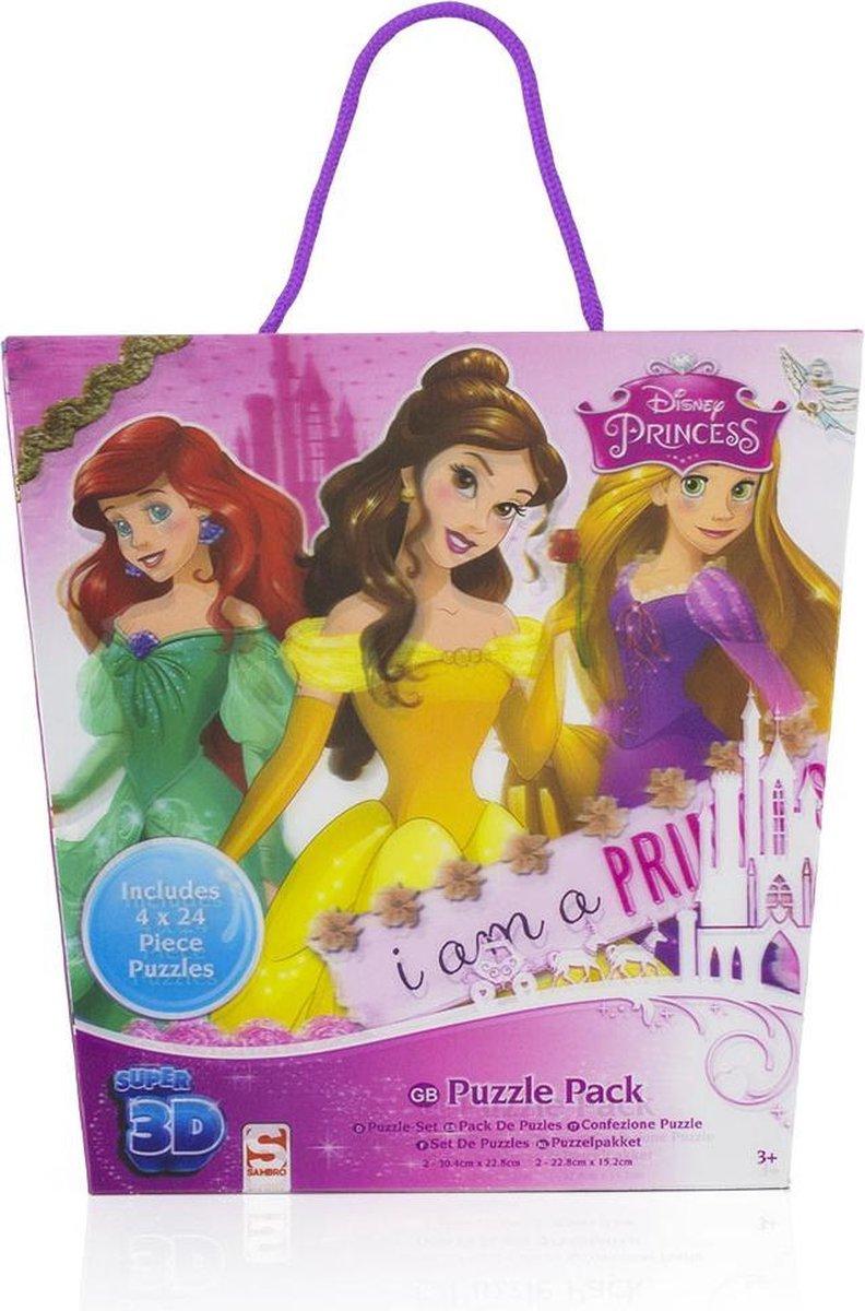 3D puzzel pakket Disney Princess (4 stuks)