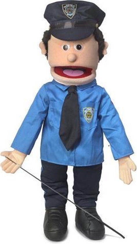 Handpop Politieagent Sillypuppets 25''