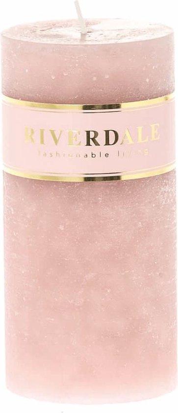 Riverdale Kaars Pillar roze 7x14cm