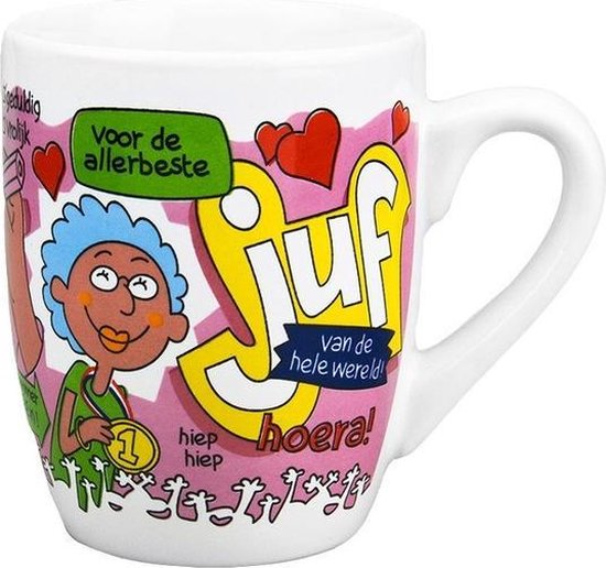 Cartoon mok 'juf'